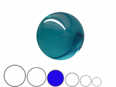 Jac Products Sky Blue Translucent 80mm Acrylic Contact Ball